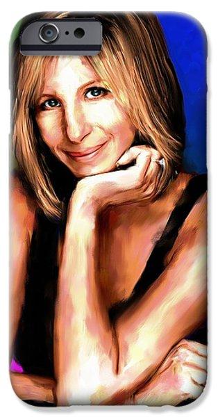 Barbra Streisand iPhone Case by Allen Glass