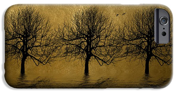Reflecting Trees iPhone Cases - Bare iPhone Case by Sharon Lisa Clarke
