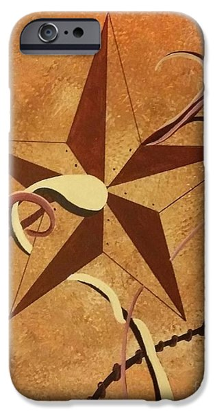 Etc. Paintings iPhone Cases - Barn Stars iPhone Case by Ems Colon
