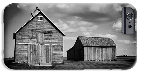 Illinois Barns iPhone Cases - Barns in Illinois iPhone Case by Mountain Dreams