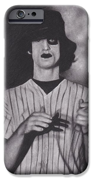 Fury Drawings iPhone Cases - Baseball Furies iPhone Case by Brittni DeWeese