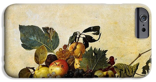 Caravaggio Paintings iPhone Cases - Basket of Fruit iPhone Case by Caravaggio