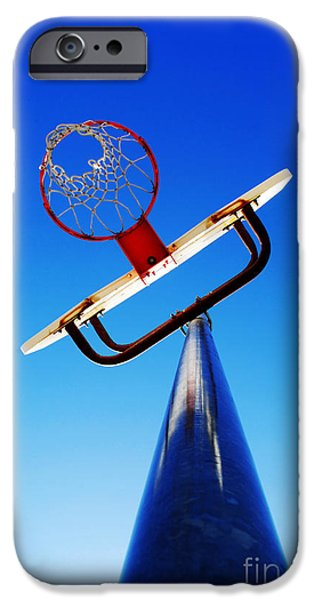 Basketball Hoop iPhone Case by Lane Erickson