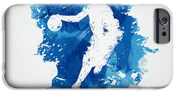 Abstract Digital iPhone Cases - Basketball Player iPhone Case by Aged Pixel