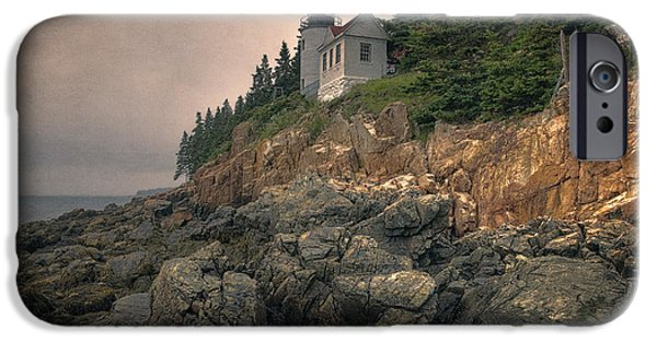 New England Lighthouse iPhone Cases - Bass Harbor Head Light II iPhone Case by Joan Carroll