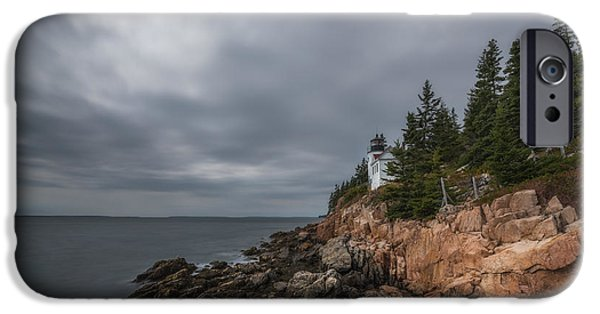 Eerie iPhone Cases - Bass Harbor Head Lighthouse iPhone Case by Michael Ver Sprill
