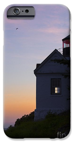 Lighthouse iPhone Cases - Bass Harbor Lighthouse iPhone Case by Diane Diederich