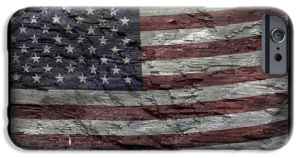 Fourth Of July iPhone Cases - Battered Old Glory iPhone Case by John Stephens