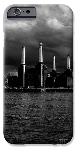 Built Structure iPhone Cases - River View of Battersea Power Station iPhone Case by Claire  Doherty