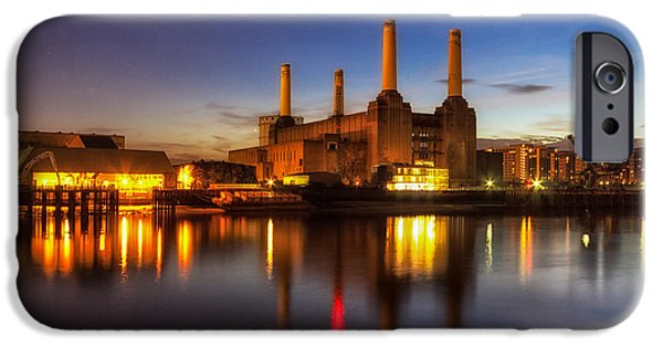 Recently Sold -  - Power iPhone Cases - Battersea Twighlight iPhone Case by Ian Hufton
