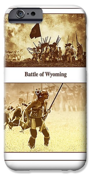 American Revolution iPhone Cases - Battle Of Wyoming iPhone Case by Jim Cook