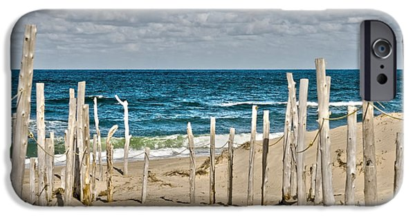 Chatham Digital Art iPhone Cases - Beach at Cape cod iPhone Case by Patricia Hofmeester