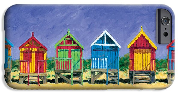 Summer iPhone Cases - Beach Huts iPhone Case by Brian James