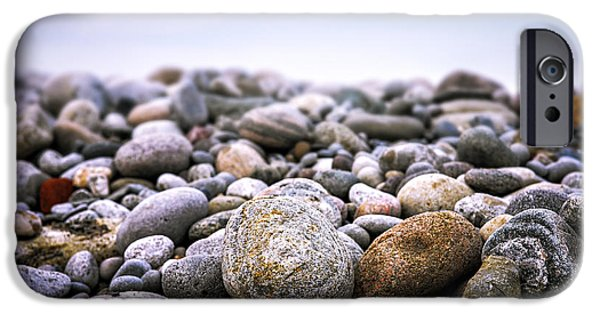 Rocks iPhone Cases - Beach pebbles iPhone Case by Elena Elisseeva