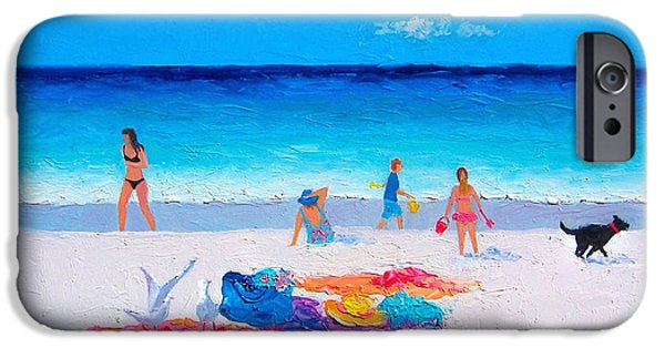 Beach Towel iPhone Cases - Beach Vacation iPhone Case by Jan Matson