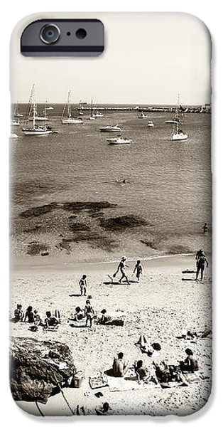 Beach View in Cascais iPhone Case by John Rizzuto