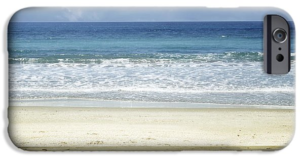 Pathway iPhone Cases - Beach view iPhone Case by Les Cunliffe