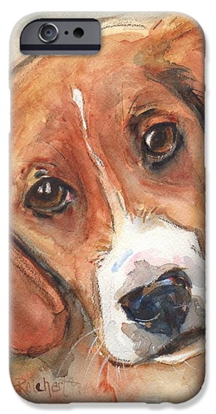 Beagles iPhone Cases - Beagle Dog  iPhone Case by Maria