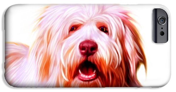 Recently Sold -  - Puppy Digital iPhone Cases - Bearded Collie iPhone Case by Iain McDonald