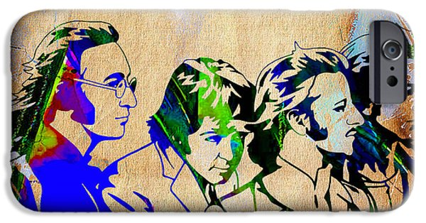 Beatles Mixed Media iPhone Cases - Beatles Collection iPhone Case by Marvin Blaine