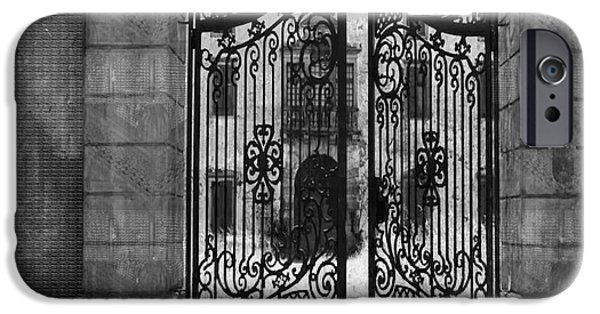 Electronic iPhone Cases - Beautiful Gates Vintage Construction Palaces and Mansions iPhone Case by Navin Joshi