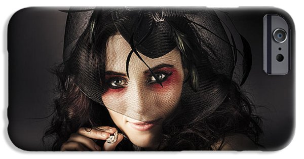Choker iPhone Cases - Beautiful Jewellery Woman Wearing Necklace iPhone Case by Ryan Jorgensen
