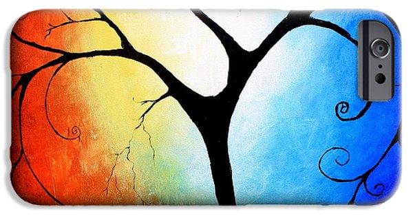 Tree Art Print Mixed Media iPhone Cases - Beautifully Broken iPhone Case by Mike Grubb