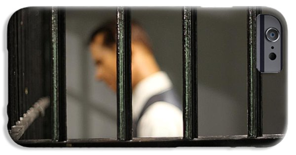 Police iPhone Cases - Behind Bars iPhone Case by Dan Sproul