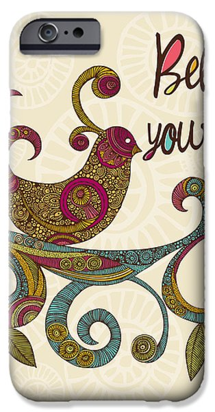 Floral Digital Art Digital Art iPhone Cases - Believe in yourself iPhone Case by Valentina Ramos