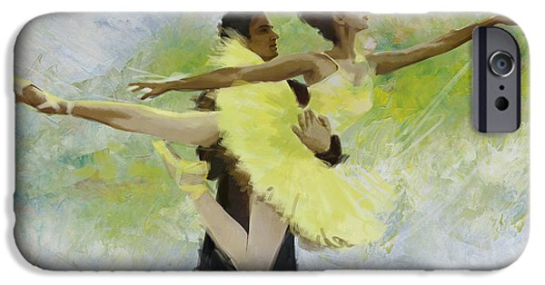 Ballet Dancers Paintings iPhone Cases - Belly Dancers iPhone Case by Corporate Art Task Force