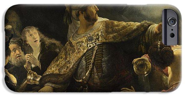 Belshazzar iPhone Cases - Belshazzars Feast iPhone Case by Rembrandt