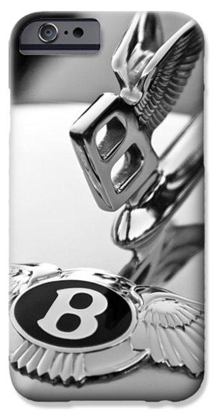Bentley Hood Ornament iPhone Case by Jill Reger