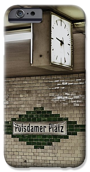 U-bahn iPhone Cases - Berlin Subway Station iPhone Case by Hans Engbers
