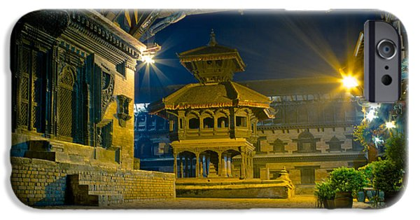 Tibetan Buddhism iPhone Cases - Bhaktapur City of Devotees Artmif.lv iPhone Case by Raimond Klavins