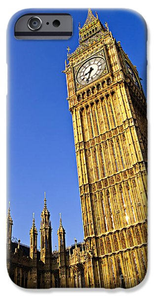 Big Ben iPhone Cases - Big Ben clock tower iPhone Case by Elena Elisseeva