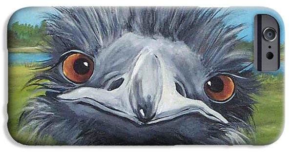 Emu iPhone Cases - Big Bird - 2007 iPhone Case by Torrie Smiley