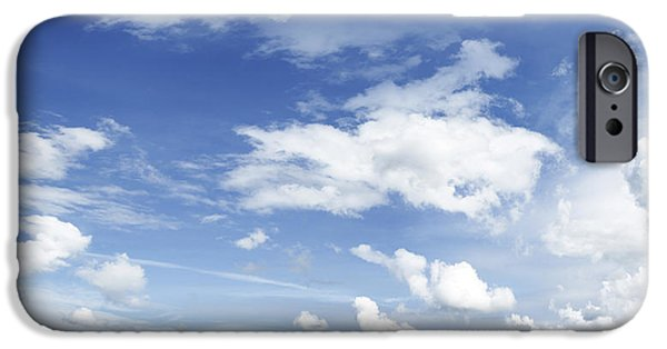 Cloudscape Photographs iPhone Cases - Big blue sky iPhone Case by Les Cunliffe