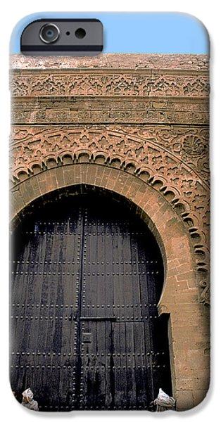 Rabat Photographs iPhone Cases - Big Door in Rabat iPhone Case by Carl Purcell