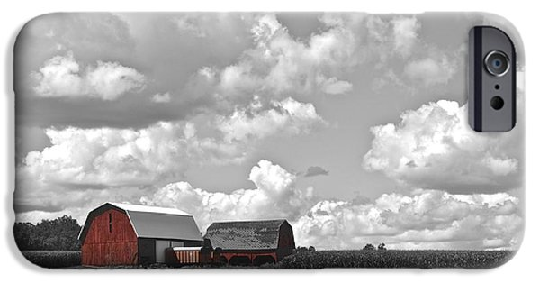 Farm Stand iPhone Cases - Big Sky iPhone Case by Frozen in Time Fine Art Photography