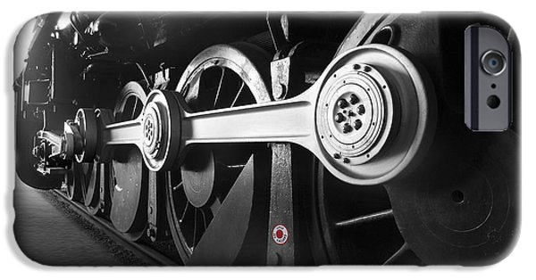Steam Engine iPhone Cases - Big Wheels iPhone Case by Mike McGlothlen