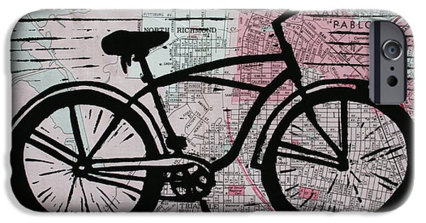 Lino Drawings iPhone Cases - Bike 9 iPhone Case by William Cauthern