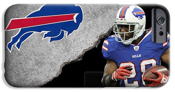 Cj iPhone Cases - Bills Cj Spiller iPhone Case by Joe Hamilton