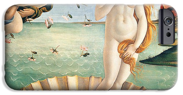 Angel Mermaids Ocean iPhone Cases - Birth of Venus iPhone Case by Sandro Botticelli