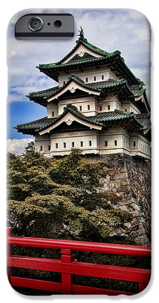 Pagoda iPhone Cases - Hirosaki Castle in Japan iPhone Case by David Smith