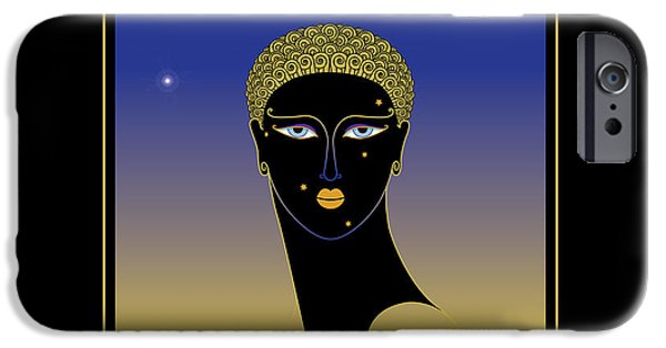 Decorative Digital Art iPhone Cases - Black Face iPhone Case by Gary Grayson