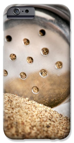Commercial Photography iPhone Cases - Black Pepper poured iPhone Case by Iris Richardson