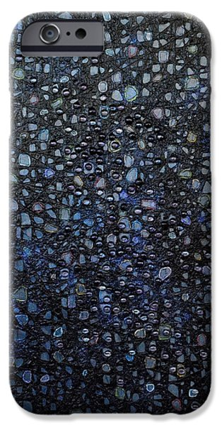 Oil Slick iPhone Cases - Black Rain iPhone Case by Donna Blackhall