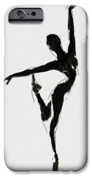 Ballet Dancers iPhone Cases - Black Swan iPhone Case by Stefan Kuhn