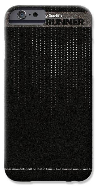 Runner iPhone Cases - Blade Runner iPhone Case by Ayse Deniz