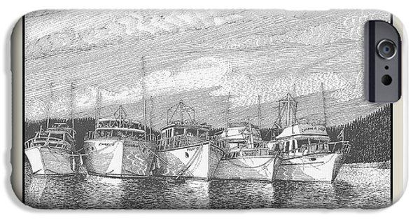 Blake Drawings iPhone Cases - Blake Island Raft Up iPhone Case by Jack Pumphrey